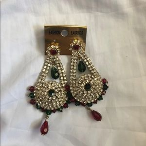 New Green and Red Earrings